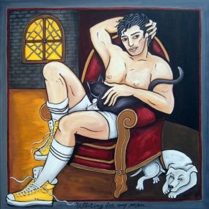 Waiting for my man100X100  acrylique/toile