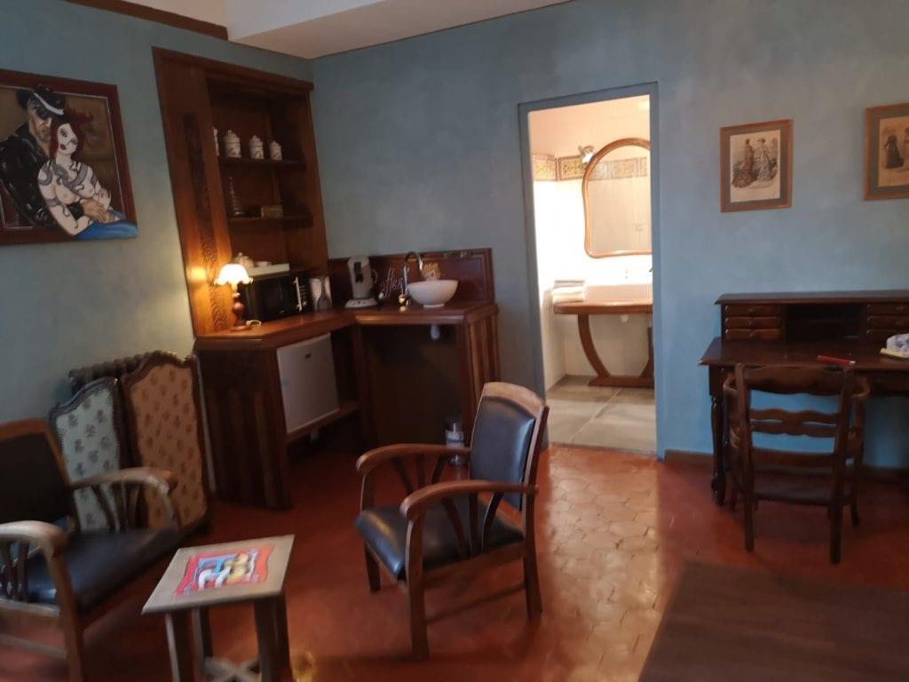 Chambre bleue après