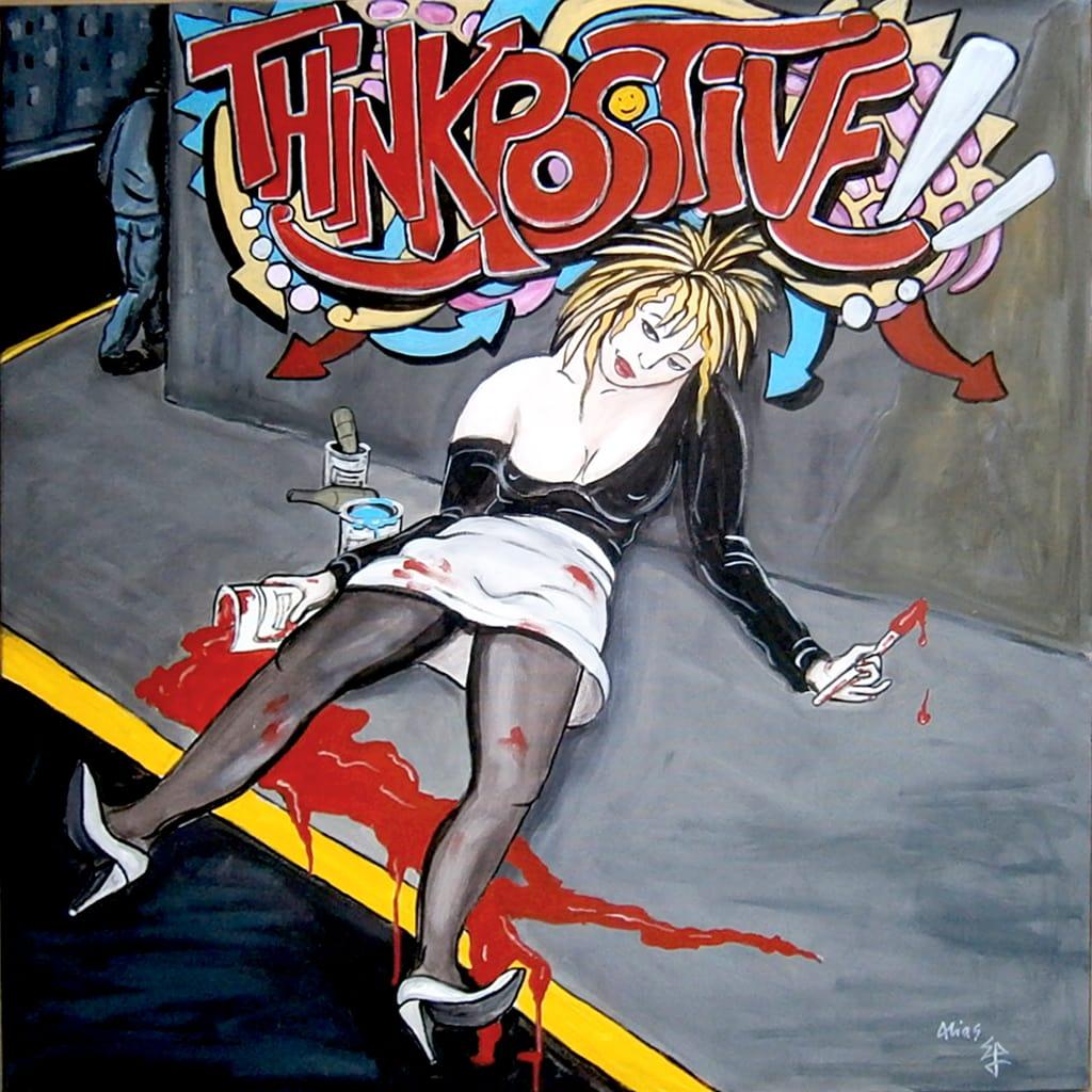think positive 100X100  acrylique/toile