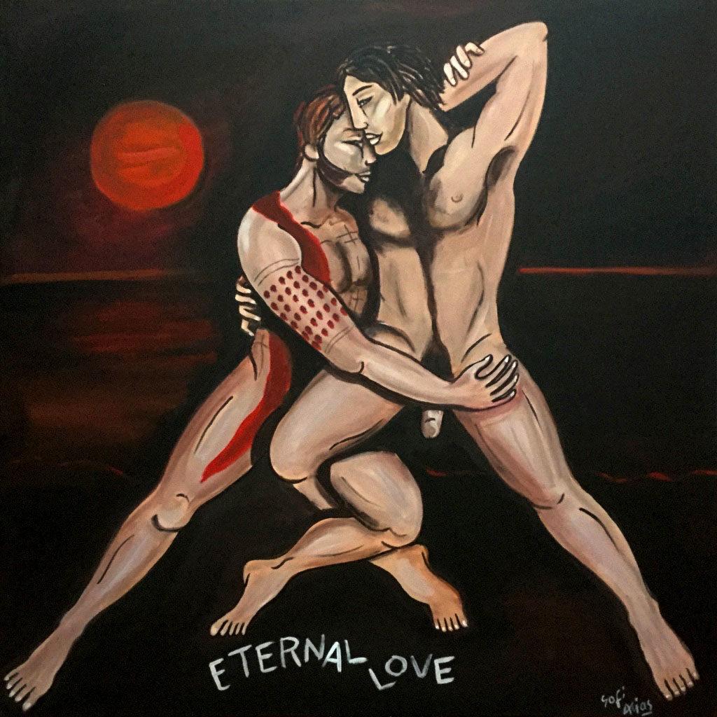 eternal love 100X100cm